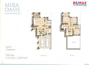Mira Oasis Type-A - 3 BR - Floor Plan