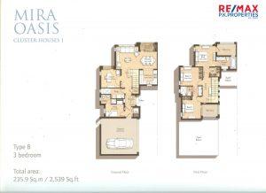 Mira Oasis Type-B - 3 BR - Floor Plan