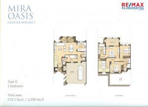 Mira Oasis Type-D - 3 BR - Floor Plan