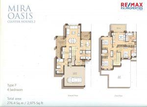 Mira Oasis Type-F - 4 BR - Floor Plan