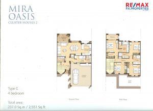 Mira Oasis Type-G - 4 BR - Floor Plan