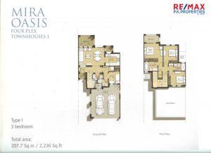 Mira Oasis Type-I - 3 BR - Floor Plan